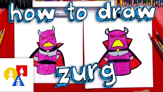 How To Draw Cartoon Emperor Zurg