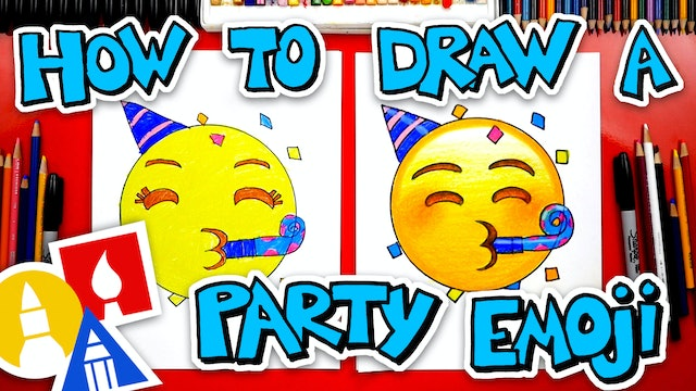 How To Draw The Party Emoji