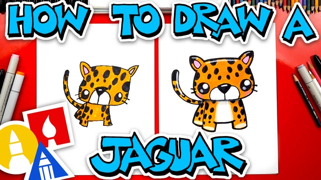 How To Draw A Cartoon Jaguar