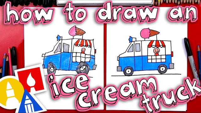 How To Draw An Ice Cream Truck