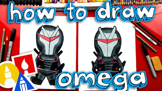 How To Draw Omega Skin Fortnite Skin ...