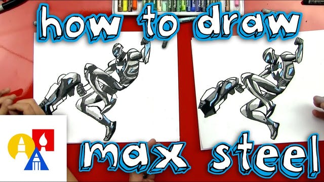 How To Draw Max Steel