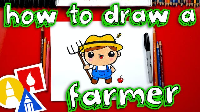 How To Draw A Cartoon Farmer