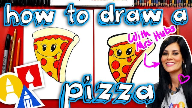 How To Draw A Funny Pizza + Artist Sp...