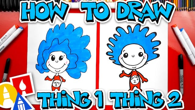 How To Draw Thing One And Thing Two