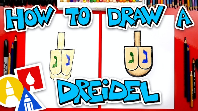 How To Draw A Dreidel For Hanukkah