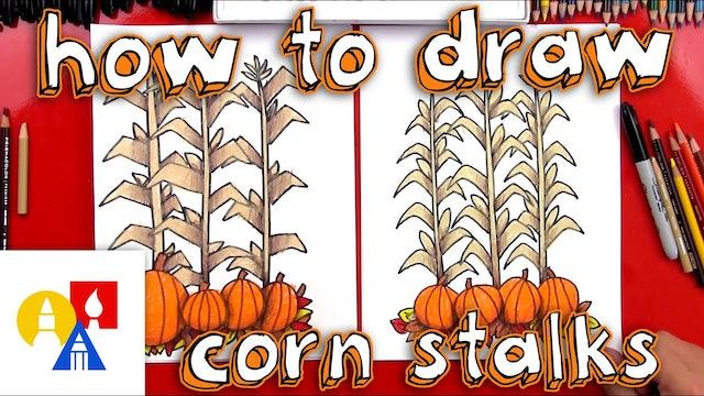 How To Draw Autumn Corn Stalks