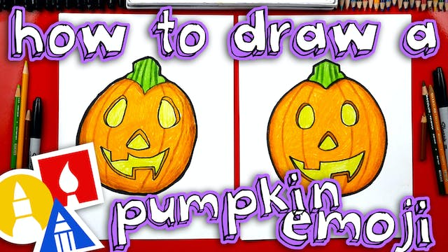 How To Draw The Pumpkin Emoji