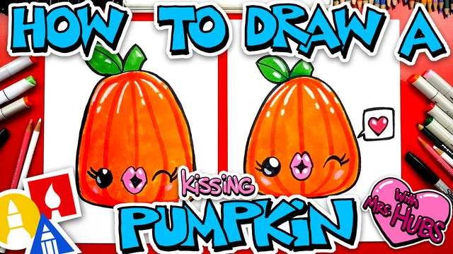 How To Draw A Kissing Pumpkin With Mr...