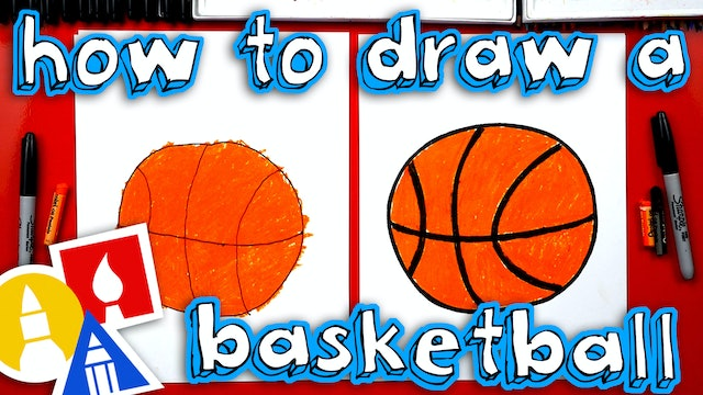 How To Draw A Basketball - For Young Artists
