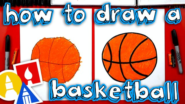 How To Draw A Basketball - For Young ...