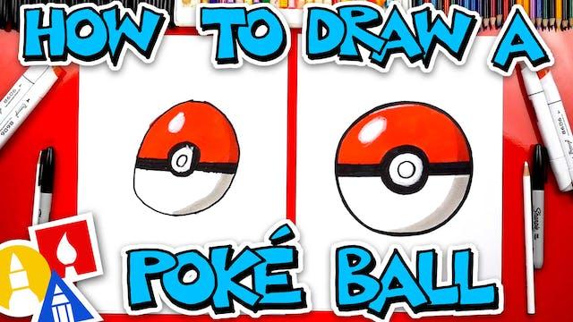 How To Draw A Poké Ball From Pokémon