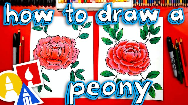 How To Draw A Simple Peony Flower