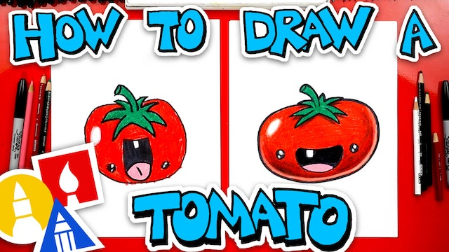 How To Draw A Funny Tomato