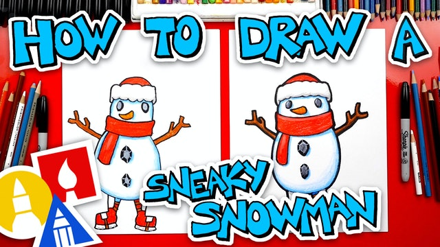 How To Draw Sneaky Snowman Fortnite Spotlight