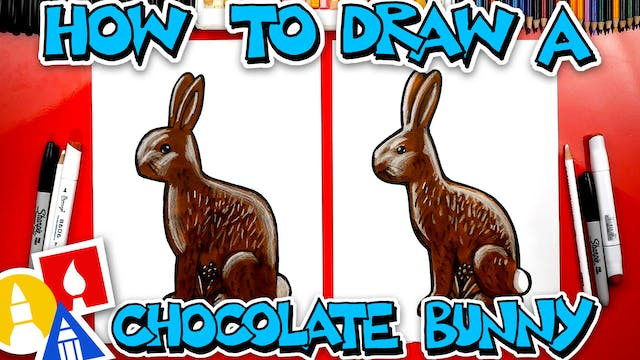 How To Draw A Chocolate Easter Bunny