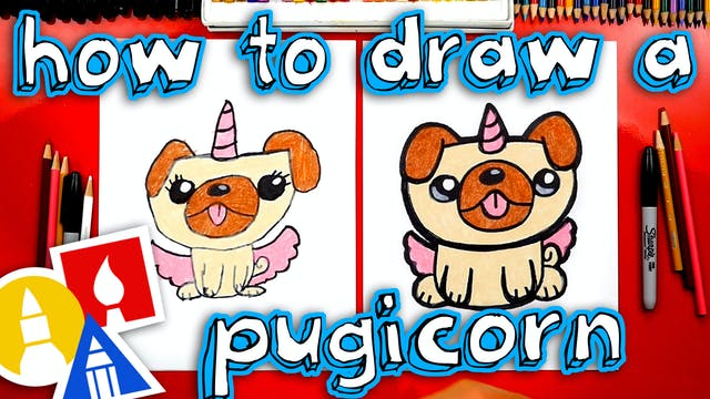 How To Draw A Unipug Pugicorn Unicorn...