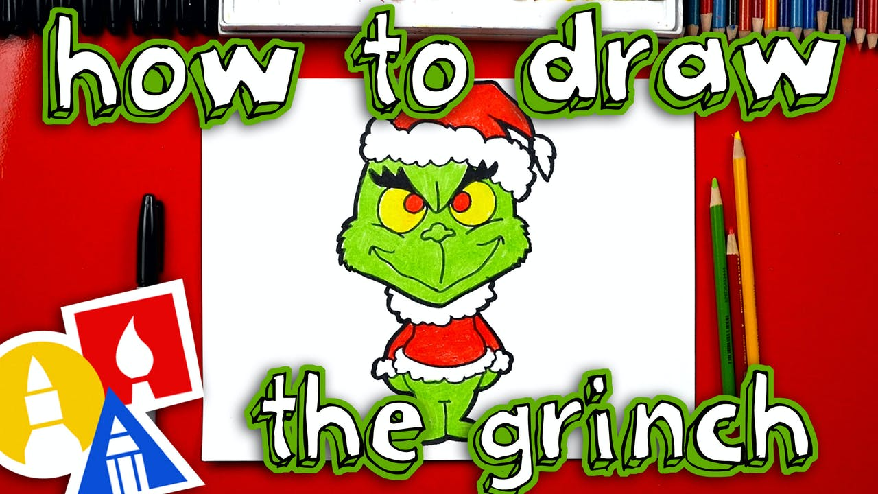 How To Draw The Grinch - How To Draw Christmas - Art For Kids Hub