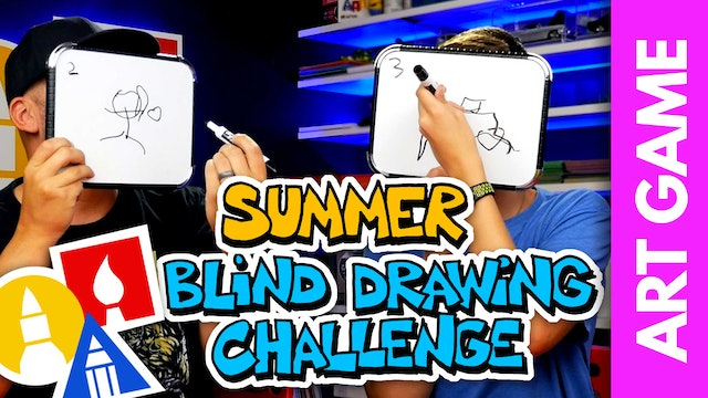 ART GAME: Summer Blind Drawing Challenge