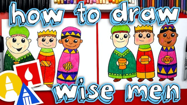 How To Draw Three Wise Men - Nativity