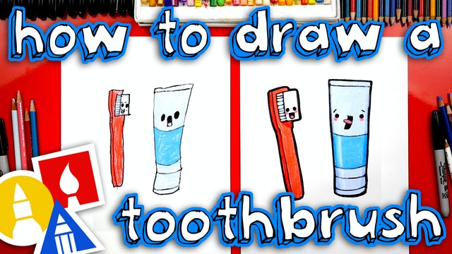 How To Draw A Toothbrush And Toothpaste