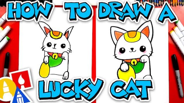 How To Draw A Lucky Cat For Chinese N...