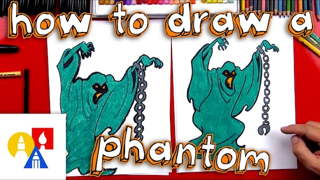 How To Draw A Phantom Ghost From Scooby Doo