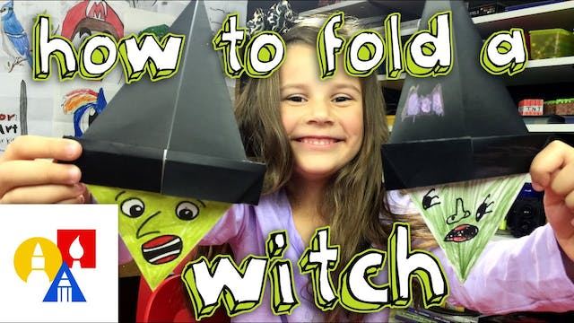 How To Fold An Origami Witch