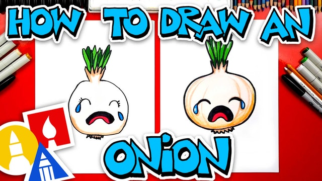 How To Draw A Funny Onion Crying
