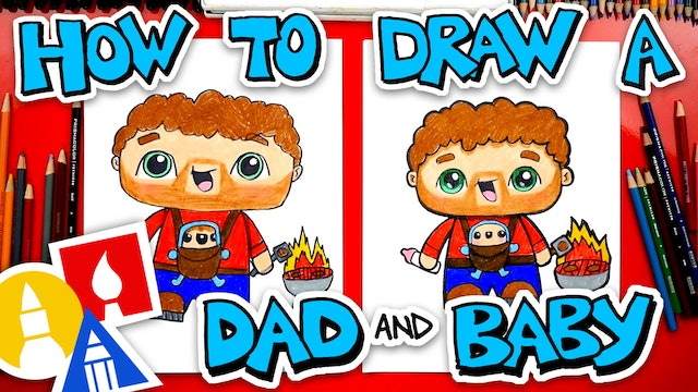 How To Draw A Father Carrying A Baby