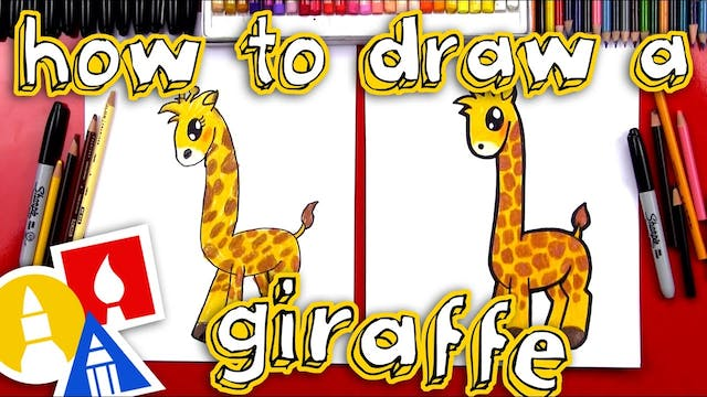 How To Draw A Cartoon Giraffe