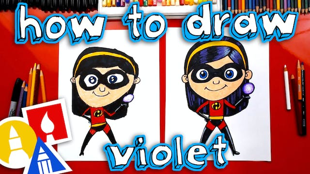How To Draw Violet From Incredibles 2
