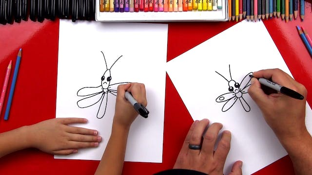 How To Draw A Funny Sad Dragonfly