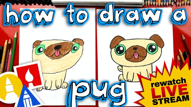 How To Draw A Pug Kawaii - Mothers Day Card