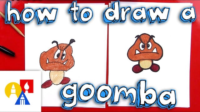 How To Draw A Goomba From Mario Brothers