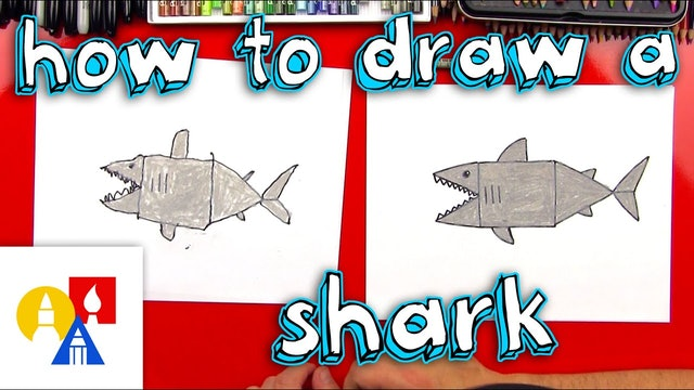 How To Draw A Shark With Shapes