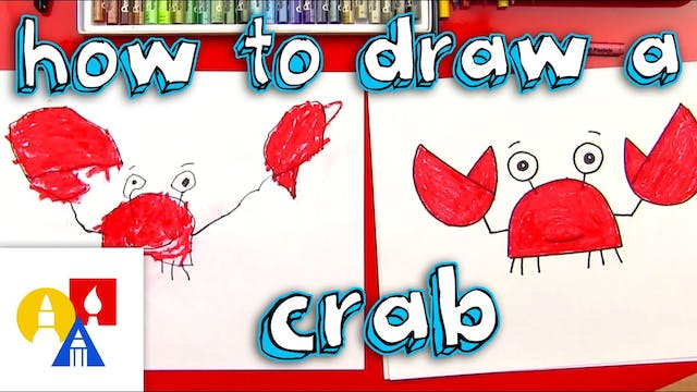 How To Draw A Crab (for young artists)