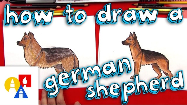 How To Draw A German Shepard