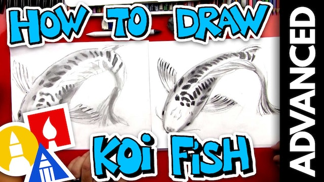 How To Sketch A Koi Fish - Advanced Sketching