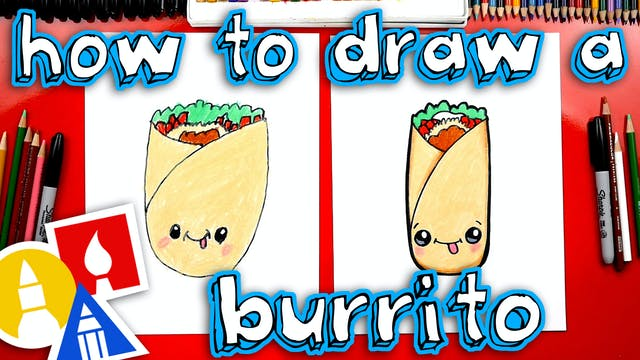 How To Draw A Funny Burrito
