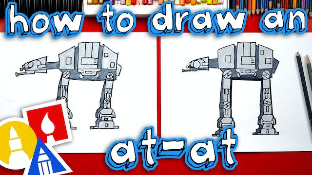 How To Draw An AT-AT From Star Wars