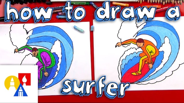 How To Draw A Surfer