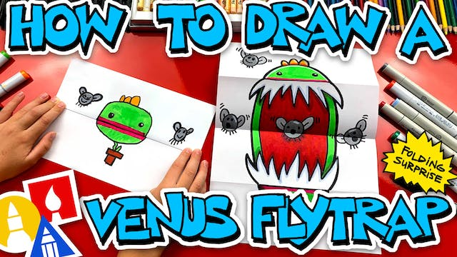 How To Draw A Venus Fly Trap Folding ...