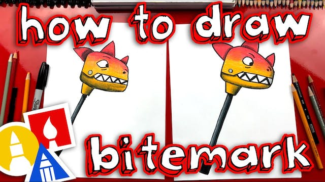 How To Draw Fortnite Bitemark Pickaxe