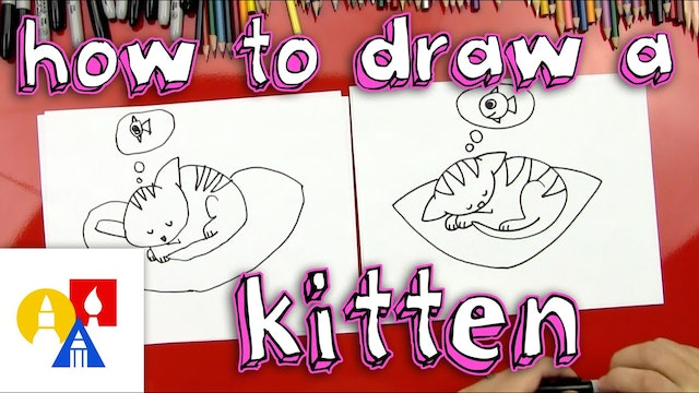 How To Draw Cutest Kitten Ever