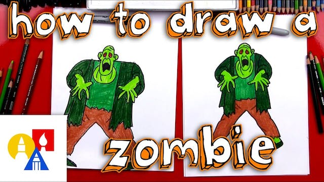 How To Draw A Zombie From Scooby Doo