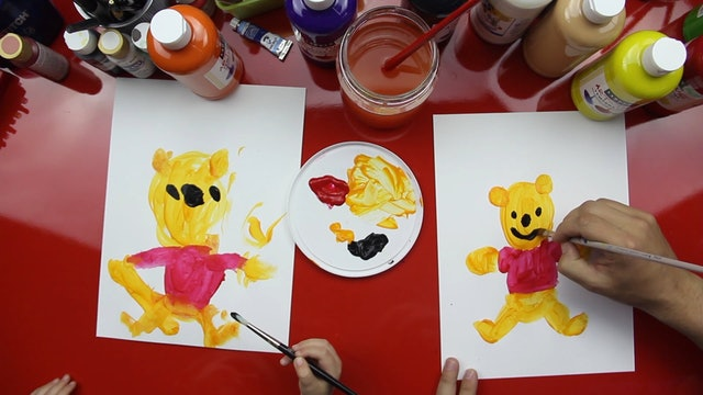 How To Paint Winnie The Pooh