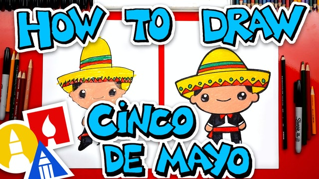 How To Draw A Cinco De Mayo Boy