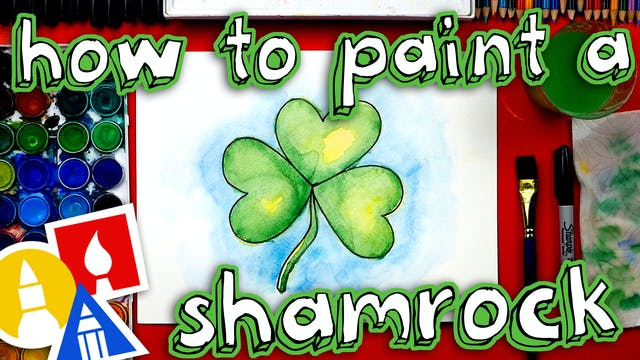 How To Paint A Shamrock With Watercolor