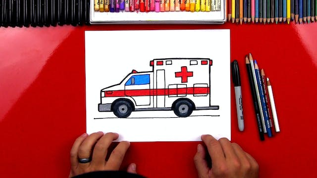 How To Draw An Ambulance Truck
